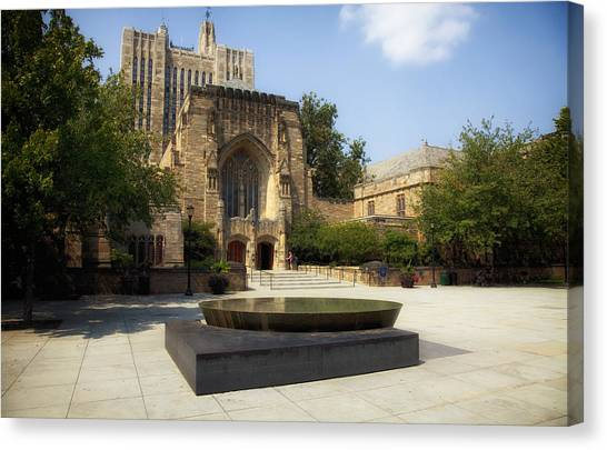 Yale University Canvas Print - Sterling Memorial Library And The Women's Table - Yale University by Mountain Dreams