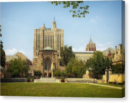 Yale University Canvas Print - Sterling Memorial Library - Yale University by Mountain Dreams
