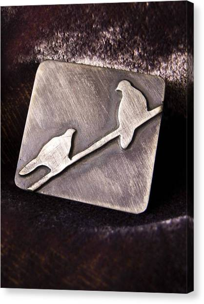 Sterling Silver Birds Canvas Print