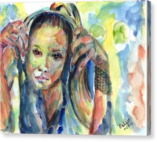 Sterlz Canvas Print by Ramona Wright