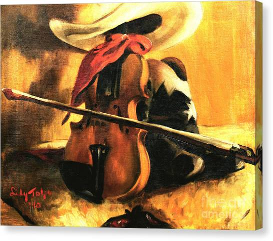 Stetson - Fiddle - Boots  Canvas Print