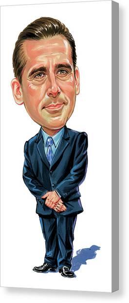 Steve Carrell As Michael Scott Canvas Print by Art