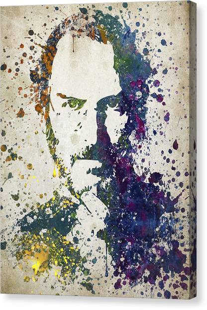Steve Jobs Canvas Print - Steve Jobs In Color 02 by Aged Pixel