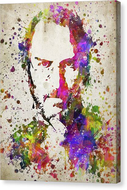 Mac Canvas Print - Steve Jobs In Color by Aged Pixel