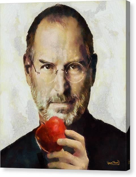Steve Jobs  Canvas Print by Wayne Pascall