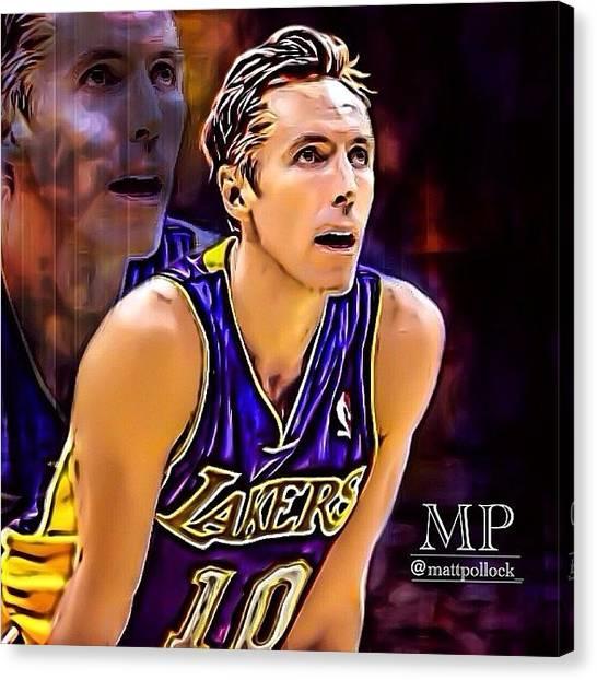 La Lakers Canvas Print - Steve Nash Edit. I Don't Really Do by Matt Pollock