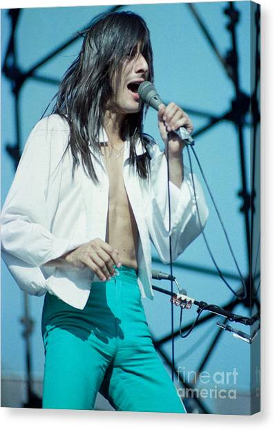 Steve Perry Of Journey At Day On The Green - July 1980 Canvas Print