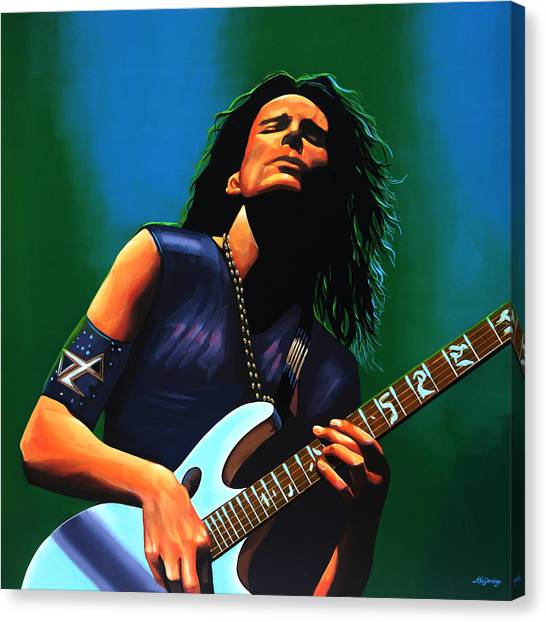 Jimi Hendrix Canvas Print - Steve Vai by Paul Meijering