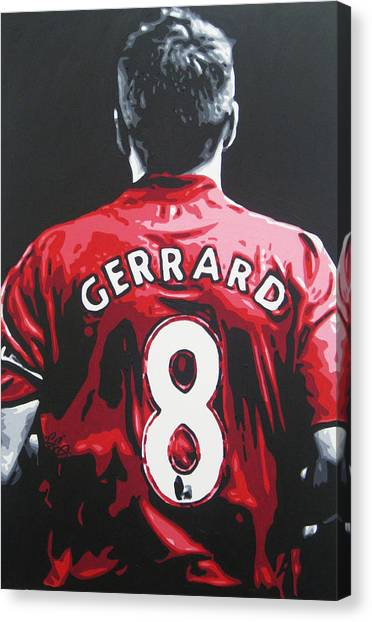 Soccer Teams Canvas Print - Steven Gerrard - Liverpool Fc 3 by Geo Thomson
