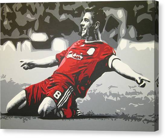 Liverpool Fc Canvas Print - Steven Gerrard - Liverpool Fc by Geo Thomson