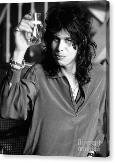 Aerosmith Canvas Print - Steven Tyler 1979 by Chris Walter