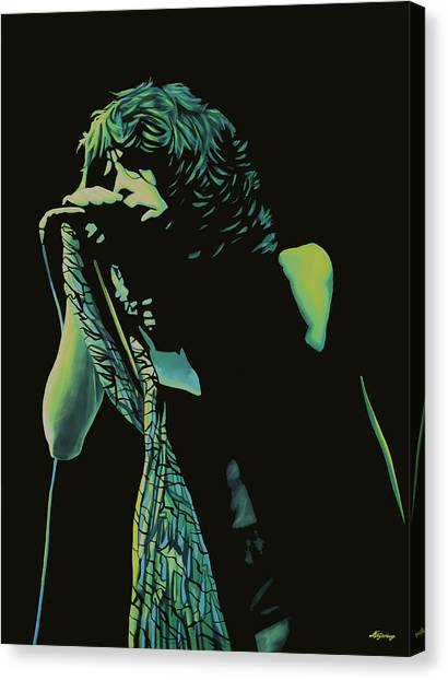 Aerosmith Canvas Print - Steven Tyler 2 by Paul Meijering