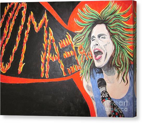 Steven Tyler Dream On Canvas Print by Jeepee Aero