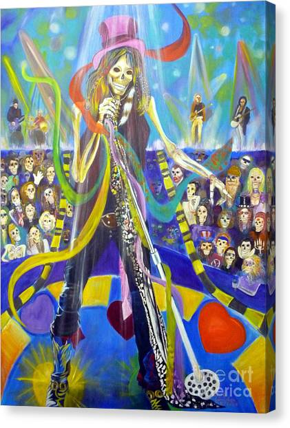 Aerosmith Canvas Print - Steven Tyler In 50 Years by To-Tam Gerwe