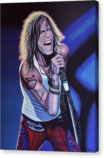Aerosmith Canvas Print - Steven Tyler 3 by Paul Meijering
