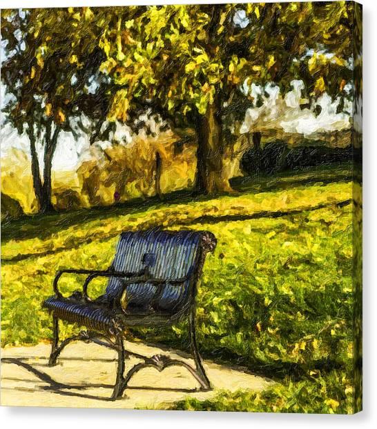Stevens Lake Park Series 01 Canvas Print by David Allen Pierson