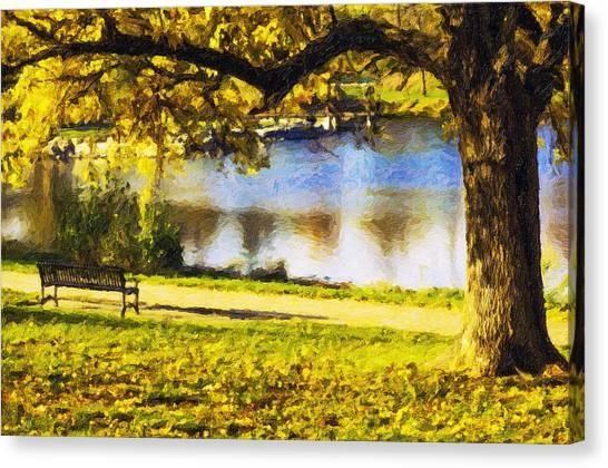 Stevens Lake Park Series 03 Canvas Print by David Allen Pierson