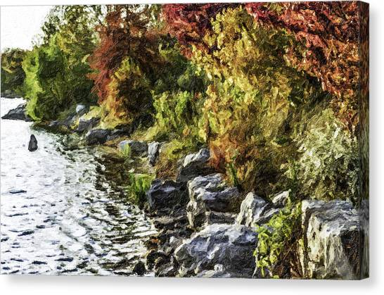 Stevens Lake Park Series 07 Canvas Print by David Allen Pierson