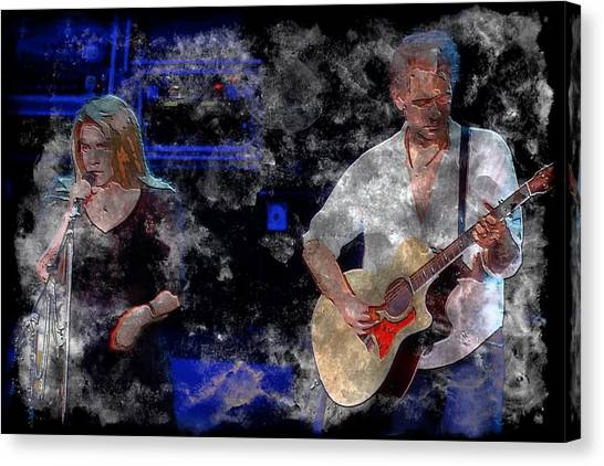 Mac Digital Music Canvas Print - Stevie And Lindsey by John Delong