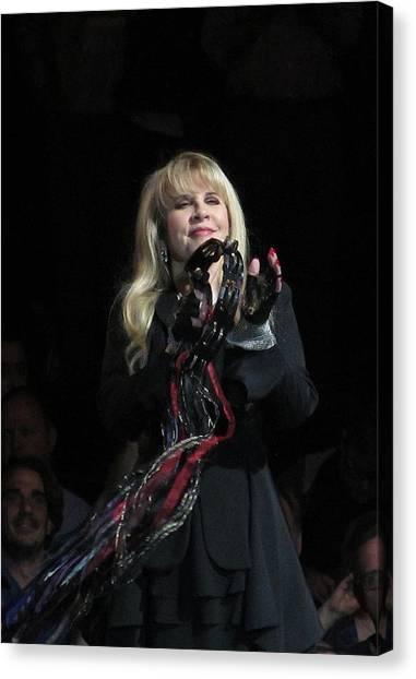 Stevie Nicks Canvas Print - Stevie Nicks 2013 by Melinda Saminski
