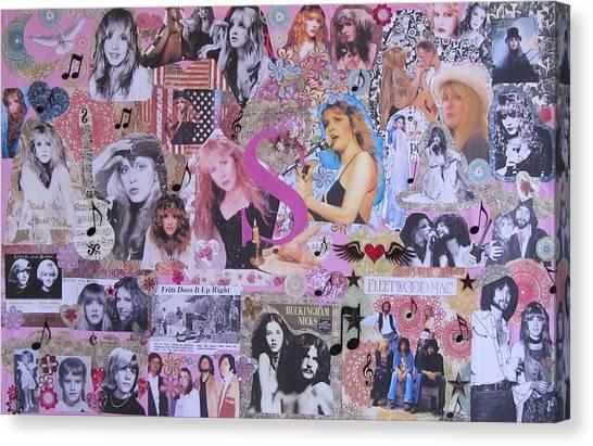 Mac Canvas Print - Stevie Nicks Art Collage by Donna Wilson