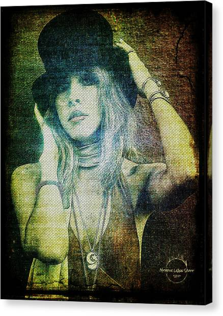 Sexy Canvas Print - Stevie Nicks - Bohemian by Absinthe Art By Michelle LeAnn Scott