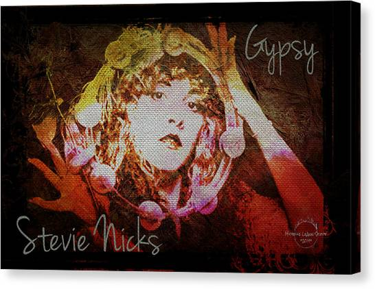 Stevie Nicks Canvas Print - Stevie Nicks - Gypsy by Absinthe Art By Michelle LeAnn Scott