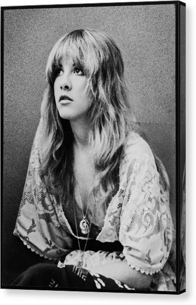 Colleges And Universities Canvas Print - Stevie Nicks by Georgia Fowler