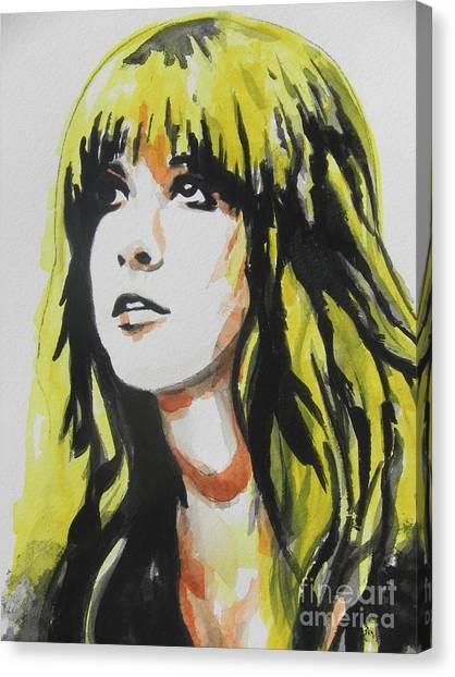 Stevie Nicks Canvas Print - Stevie Nicks 01 by Chrisann Ellis