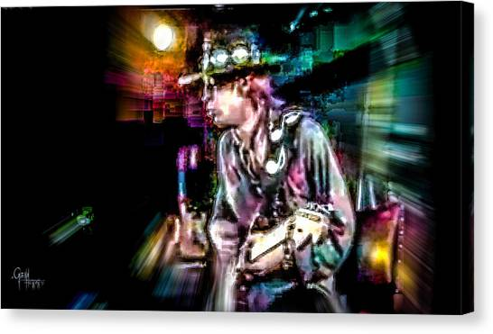 Stevie Ray Vaughan - Smokin' Canvas Print
