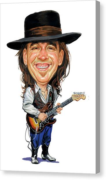 Laugh Canvas Print - Stevie Ray Vaughan by Art