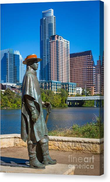 Austin Texas Canvas Print - Stevie Ray Vaughan by Inge Johnsson