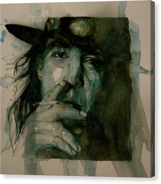 Singer Canvas Print - Stevie Ray Vaughan by Paul Lovering