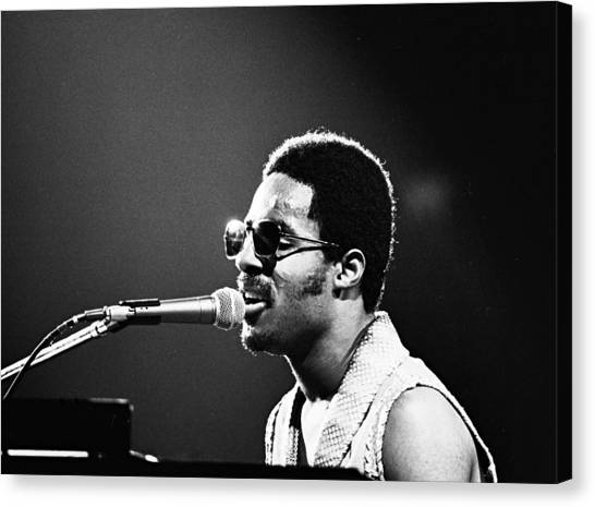 Stevie Wonder - Piano Man Canvas Print