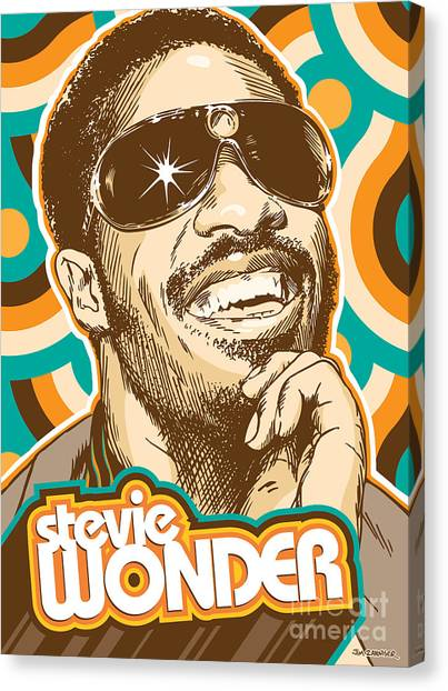 Stevie Wonder Pop Art Canvas Print