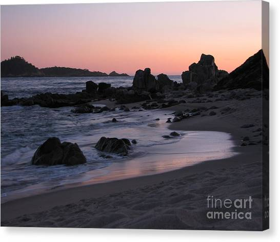 Stewart's Cove At Sunset Canvas Print