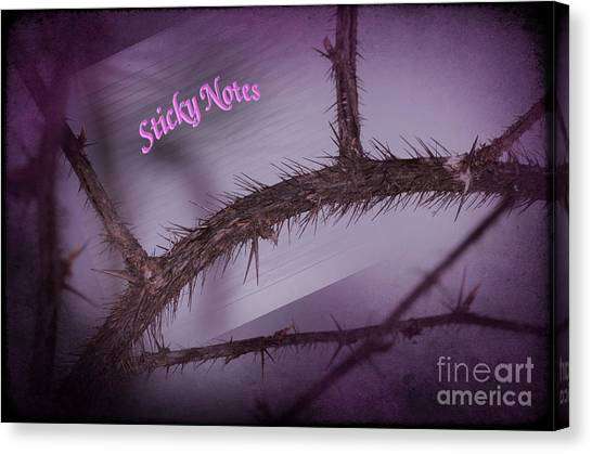Sticky Notes Canvas Print by The Stone Age