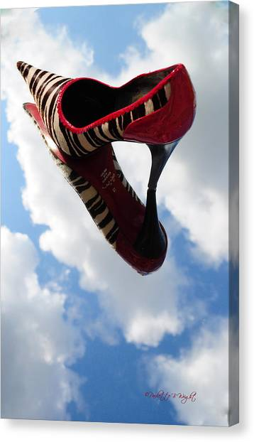 Sex Kitten Canvas Print - Stilettos Gone Zebra by Paulette B Wright