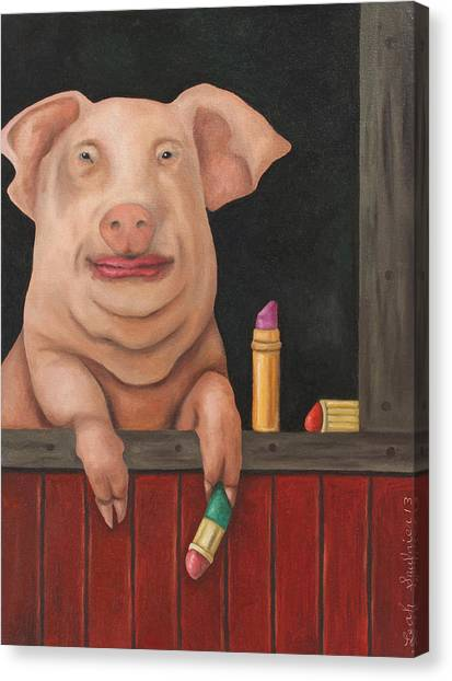 Still A Pig Canvas Print