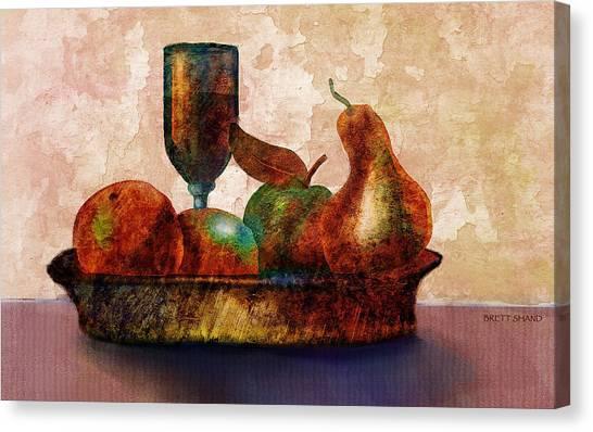 Still Fife - Fruit And Glass Canvas Print