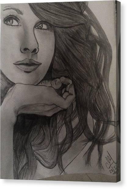 Taylor Swift Canvas Print - Still IIi by Mukul Rajbanshi