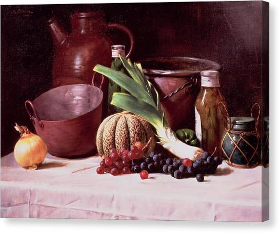 Melons Canvas Print - Still Life, 1909 by Robert Schade