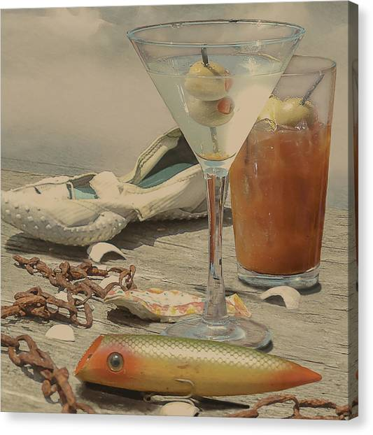 Bloody Mary Canvas Print - Still Life - Beach With Curves by Jeff Burgess