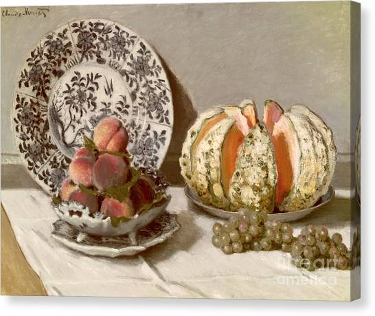 Melons Canvas Print - Still Life by Claude Monet