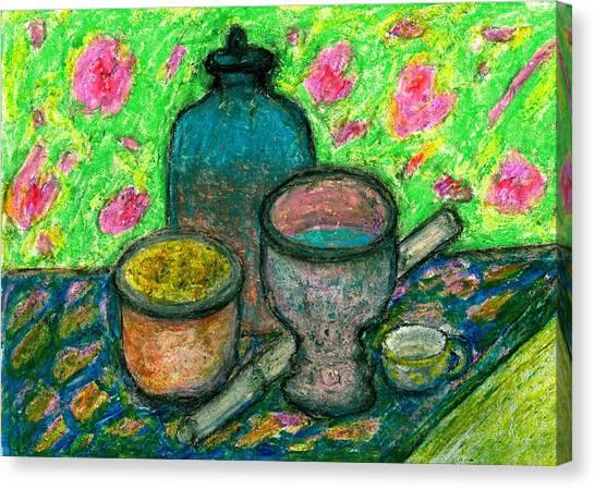 Still-life In Meditation Canvas Print by Yuri Lushnichenko