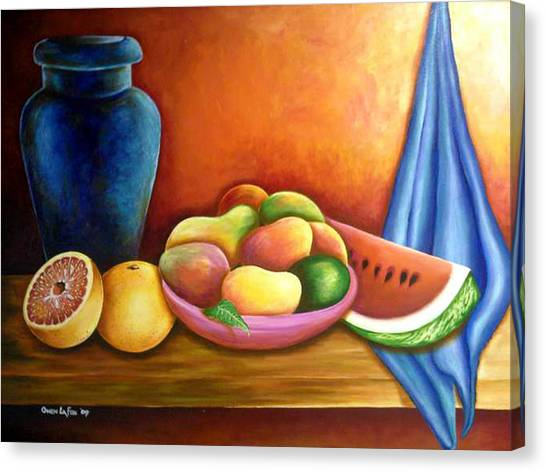 Still Life Of Fruits Canvas Print