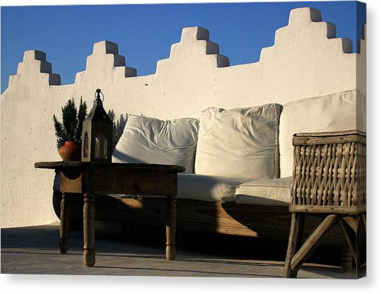 Still Life On A Roof Terrace Old Medina Tangier Morocco Canvas Print by PIXELS  XPOSED Ralph A Ledergerber Photography