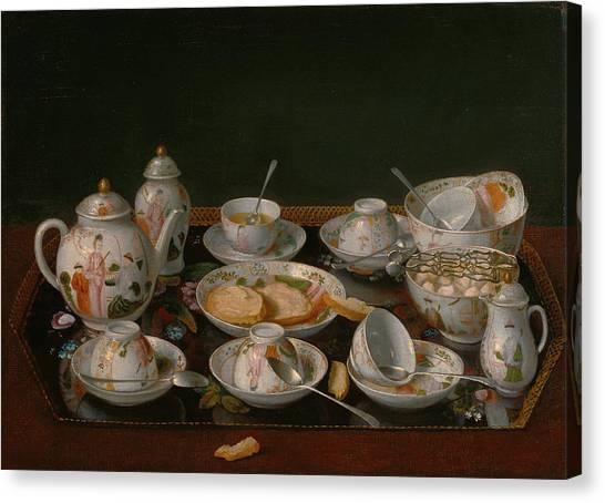 Tea Set Canvas Print - Still Life Tea Set Jean-Étienne Liotard by Litz Collection