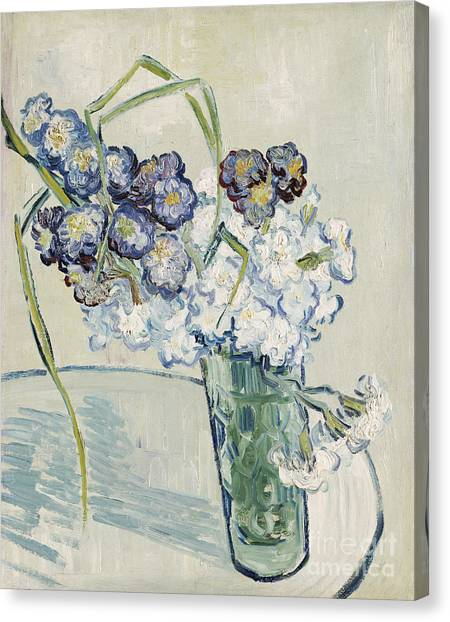 In Bloom Canvas Print - Still Life Vase Of Carnations by Vincent van Gogh