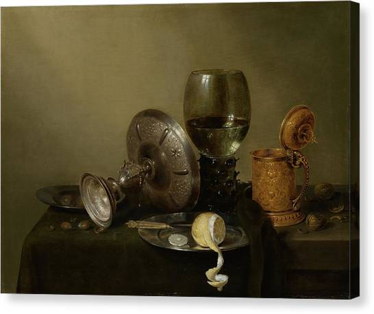 Still Life With A Gilt Cup Canvas Print